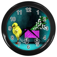 Victorian Easter Wall Clock (Black)
