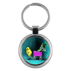 Victorian Easter Key Chain (Round)