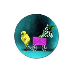 Victorian Easter Magnet 3  (Round)