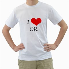 Heart Cr Men s T Shirt (white)