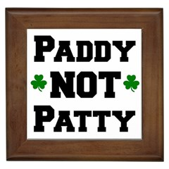 Paddynotpatty Framed Ceramic Tile