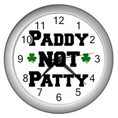 Paddynotpatty Wall Clock (Silver)