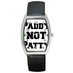 Paddynotpatty Tonneau Leather Watch
