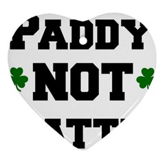 Paddynotpatty Heart Ornament (two Sides)