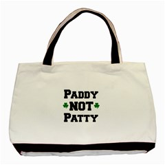 Paddynotpatty Twin-sided Black Tote Bag