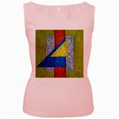 Abstract Women s Tank Top (pink)