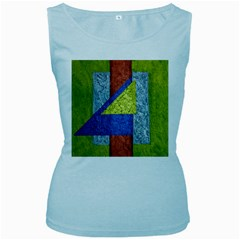 Abstract Women s Tank Top (Baby Blue)