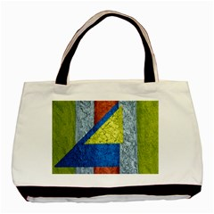 Abstract Twin Sided Black Tote Bag