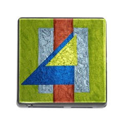 Abstract Memory Card Reader with Storage (Square)