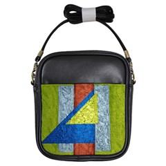 Abstract Girl s Sling Bag