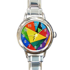 Abstract Round Italian Charm Watch