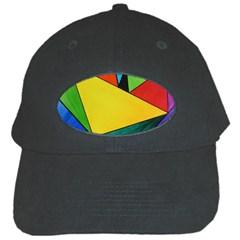 Abstract Black Baseball Cap
