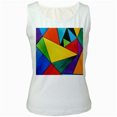 Abstract Women s Tank Top (White)