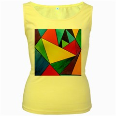 Abstract Women s Tank Top (Yellow)