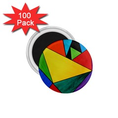Abstract 1 75  Button Magnet (100 Pack)