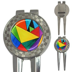 Abstract Golf Pitchfork & Ball Marker