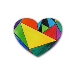 Abstract Drink Coasters 4 Pack (Heart)
