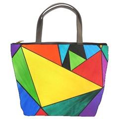 Abstract Bucket Handbag