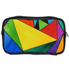Abstract Travel Toiletry Bag (one Side)