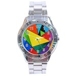 Abstract Stainless Steel Watch Front