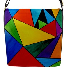Abstract Flap Closure Messenger Bag (small)