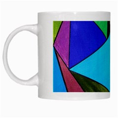 Abstract White Coffee Mug