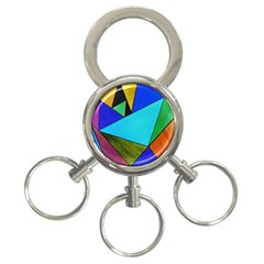 Abstract 3-Ring Key Chain
