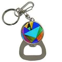 Abstract Bottle Opener Key Chain