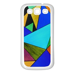 Abstract Samsung Galaxy S3 Back Case (white)