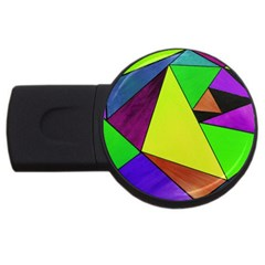 Abstract 2GB USB Flash Drive (Round)