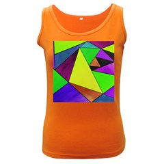 Abstract Women s Tank Top (dark Colored)