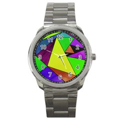 Abstract Sport Metal Watch