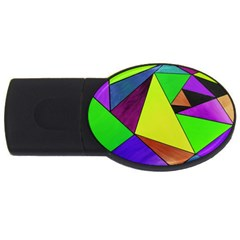 Abstract 4GB USB Flash Drive (Oval)