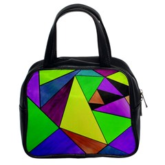 Abstract Classic Handbag (two Sides)