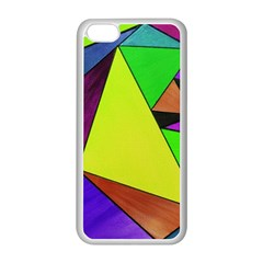 Abstract Apple iPhone 5C Seamless Case (White)