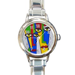Face Round Italian Charm Watch