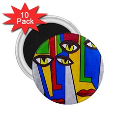 Face 2.25  Button Magnet (10 pack)