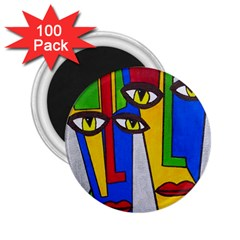 Face 2.25  Button Magnet (100 pack)