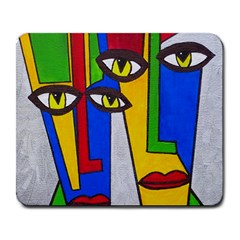 Face Large Mouse Pad (Rectangle)