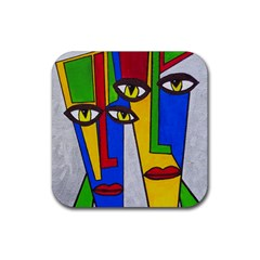Face Drink Coasters 4 Pack (Square)
