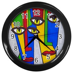 Face Wall Clock (black)