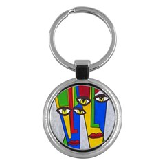 Face Key Chain (Round)