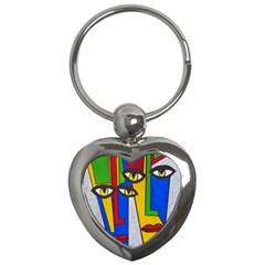 Face Key Chain (heart)