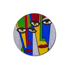Face Drink Coasters 4 Pack (Round)