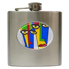 Face Hip Flask