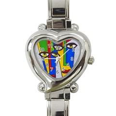Face Heart Italian Charm Watch