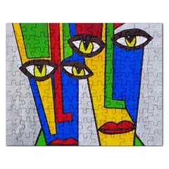 Face Jigsaw Puzzle (Rectangle)