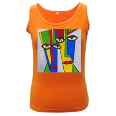 Face Women s Tank Top (Dark Colored)