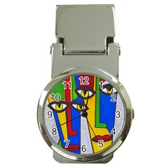 Face Money Clip with Watch