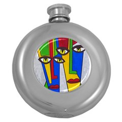 Face Hip Flask (round)